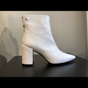 Zadig & Voltaire White Patent Leather Boots